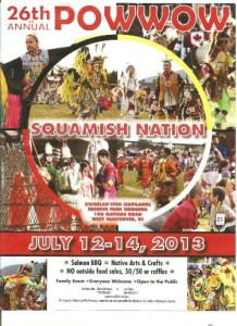 Squamish Nation Pow Wow this weekend.